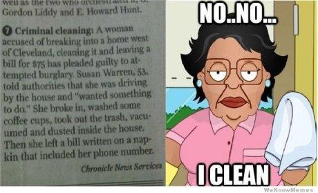procrastinating. . criminal cleanin consuela family guy