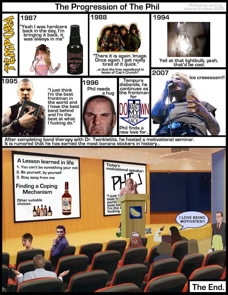 Progression of the Phil. I love making fun of Phil Anselmo.. YEAH ! PHIL ANSELMO !!!!!