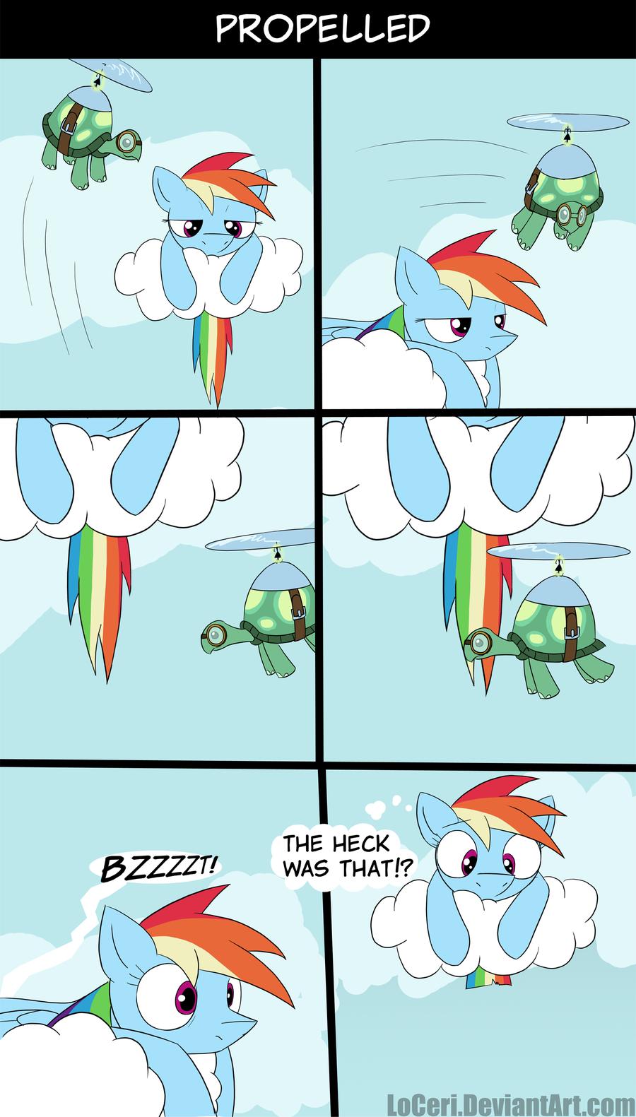 Propelled. . ponies comic
