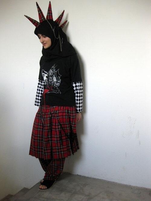 Punk Muslim girl. .. 10/10 would stone.