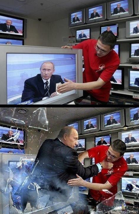 Putin. Angry Putin.. Looks like he's . . . Putin on the fritz