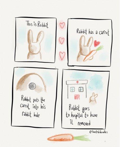 Rabbit Hole. I like big bunny bitches, I like big bunny bitches.. It went exactly what I thought would happen!