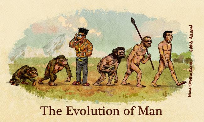 Racist? a little, Funny? yeah. . AMI iqzt - The Evolutio. not racist, douchebag isn't a race lol