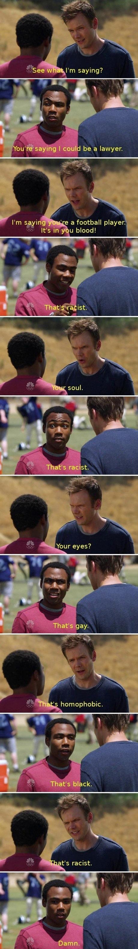 Racist. . a football player, It' s LI blood!