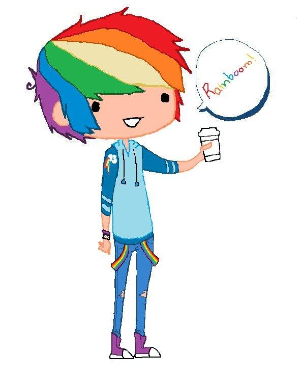 Rainbow Dash Human Boy Rainbow Dash Humanized Boy
