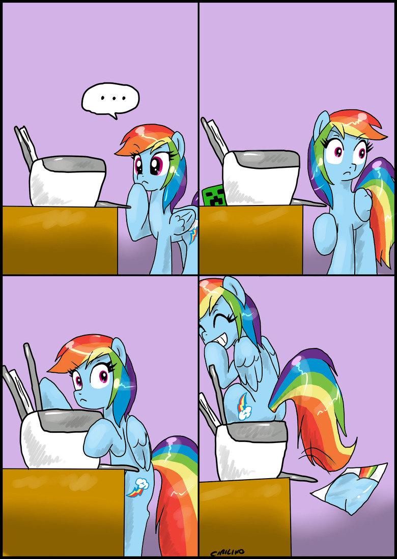 Rainbow dash vs printer- by ciriliko. The plotter is back! .