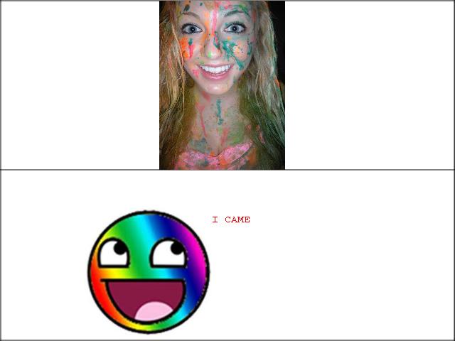 Rainbow facials. You be welcome Ms shay.. Clown Bukkake ..