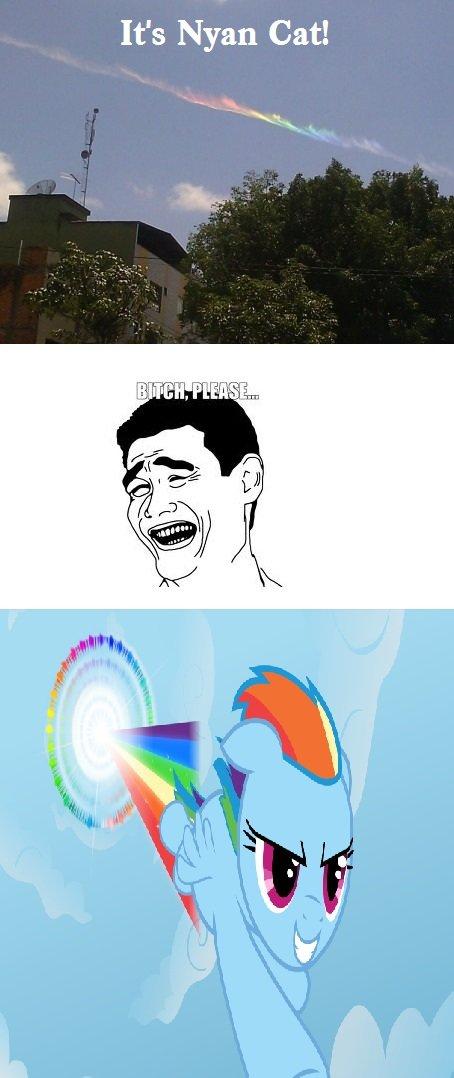 Rainbow Stream. . It' s Nyan Cat!. Is better
