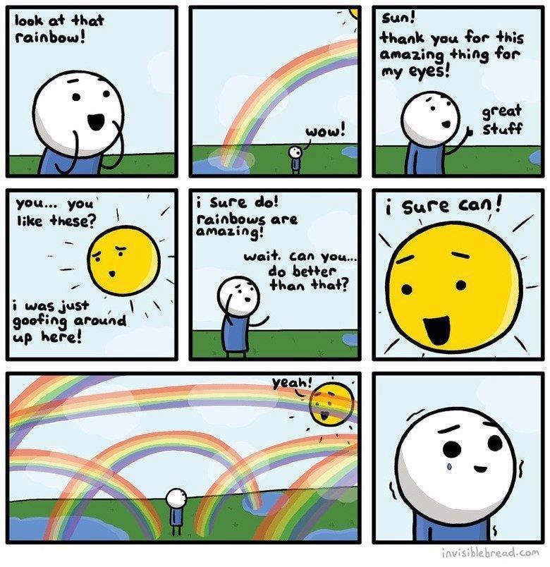Rainbows. Found on Facebook. Not OC.. thank you tsr -this amazing using Ar i Sure do! am: -nag sun rainbows Goofing around