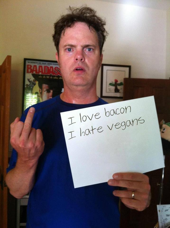 Rainn Wilson, Legend. this man is a machine.. Nice sign, 2bad that its fake. Rape the unborn