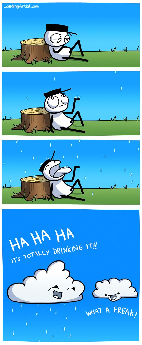 Rainy Days. Credit goes to Loadingartism It's peepee..