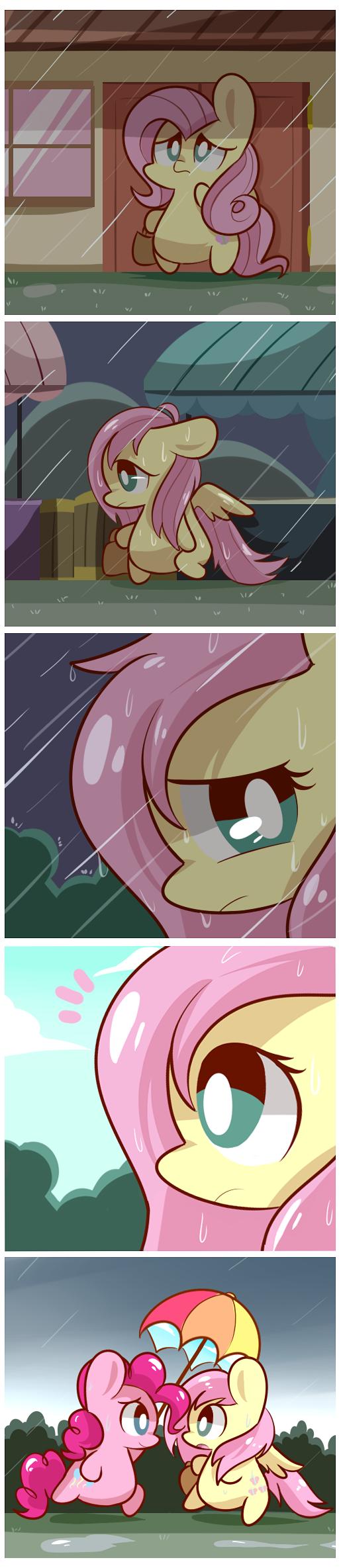 Rainy Day. http://lloserlife.deviantarm/art/Rainy-D ay-399562409.. Cuteness overload!