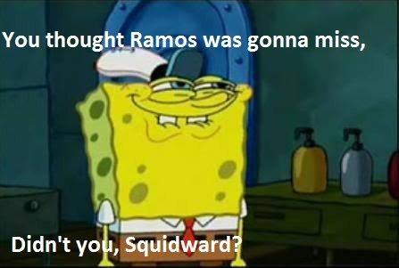 Ramos. I did... YOU CHRISTIANO HAHA!
