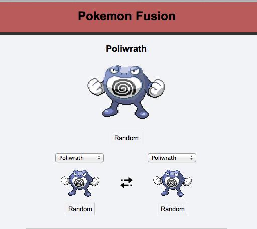 Randomizing in pokemon fusion (desc). This is what eventually happens when you keep randomizing in pokemon fusion. Pretty creative huh?. Poliwrath Ramdom Ramdom creative Pokemon Fusion random