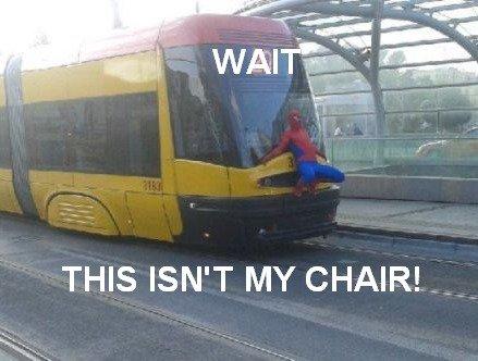 Real life 60's Spider man. I choo-choo-choose you.. Spider Man Real Train