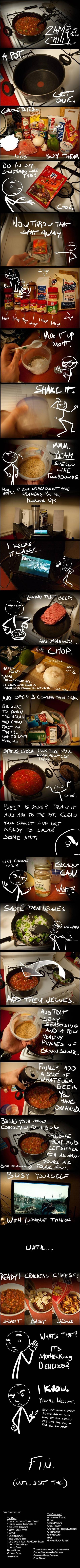 Recipe for the best chili you ever had.. Recipe for the best chili you will ever eat.. C chics Saw mu' Bet? Am Ballistic . H kkg: igu 2 mm; ass mm A ND omen 2 c