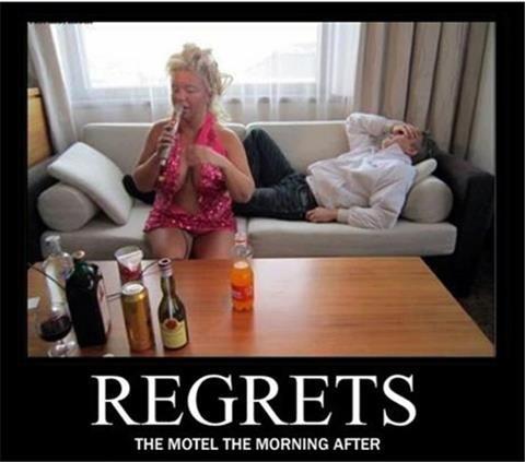 REGRETS. . THE MOTEL we MORNING AFTER. Tuksu <3