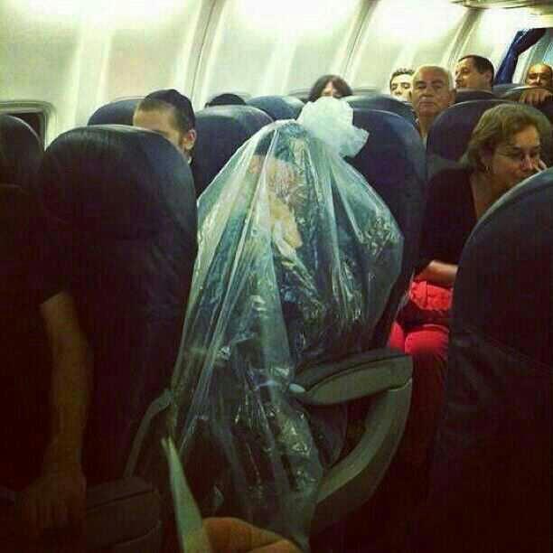 Religion.... I respect all religions, but sometimes I wonder... Orthodox Jew Flies In Plane Covered In Huge Plastic Bag www.huffingtonpost.com/2013/04/11/orthod