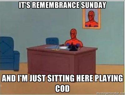 Remembrance Sunday. OC. IT' S ITEM Mill PM MIST SITTING HERE Mil