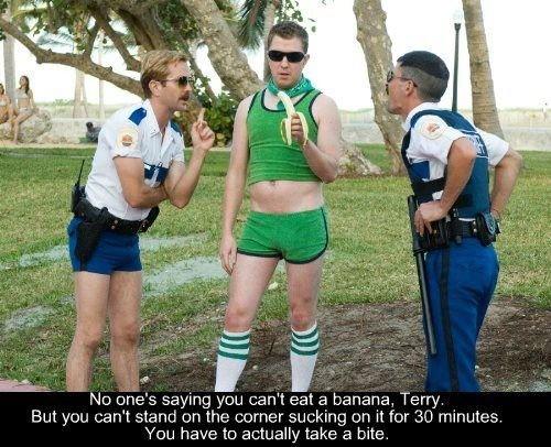 Reno 911. . No lane' s saying you can' t eat s/ banana, Terry. an you cena tnmt.) uerthe. + =;: ureter an it for 30 minutes. mu have tn actually take :1 bite.
