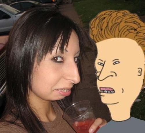 resemblence. hehe. lol butthead beavis