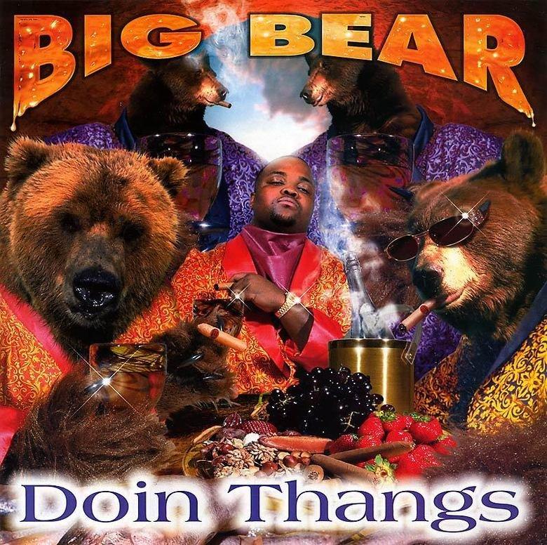Respect the bear. Russian rapper.