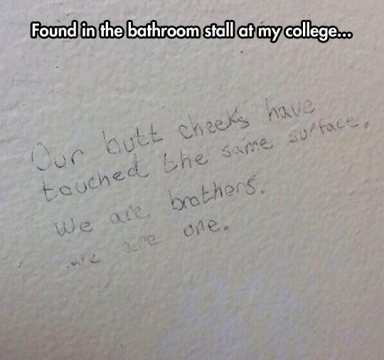 Restroom Poetry. .