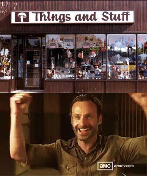 Rick's favorite store.. READ THE COMICS YOU PLEB!!!!. the walking dead TV Show comcis