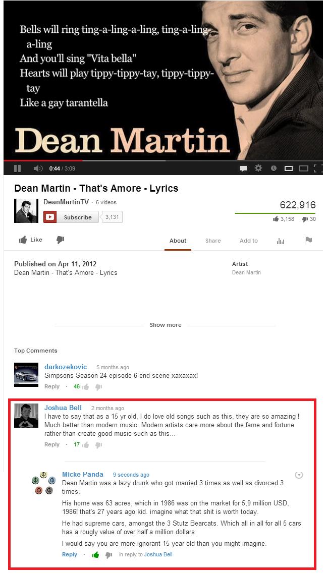 "Right where it hurts. . Hells will Filly, % g l IMI! i' altr,! llooll MMI, Dean Martin "" That' s Amore "" Lyrics 6 videos 622, 91 6 El Subscribe 3., 13. 1 d 315."