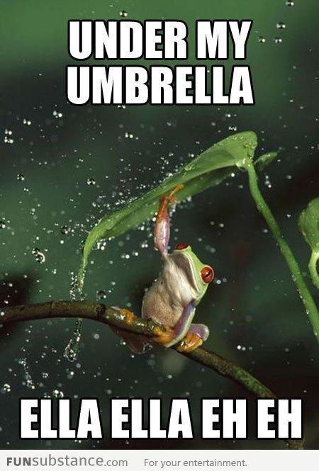 Rihanna frog. .