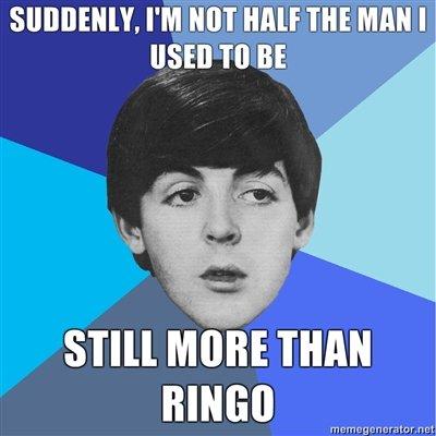 Ringo. poor ringo not oc. Y, PM um HALF m man I S' I' Ill MIME THAN BINGO Coil M r. n ret'. hfw