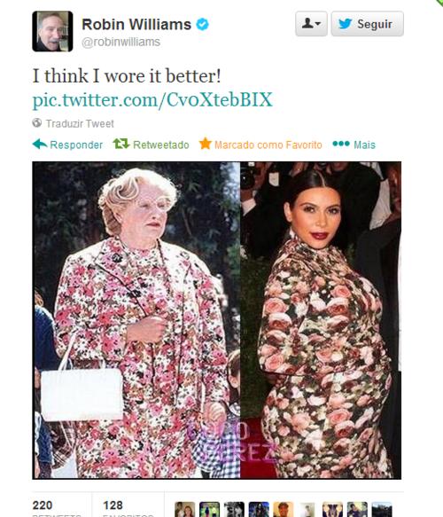 RIP Robin Williams. . Robin Williams talt In I SEMI cut: 'Th' vars I think I wore it better!