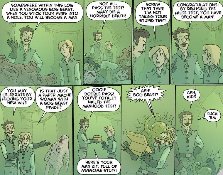 Rite of Passage. Good stuff, go read them all, you'll like it... mfw I see Oglaf-comics.