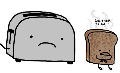 Roasted Bread. . pat' 4. fick tta tht bread roasted Toaster
