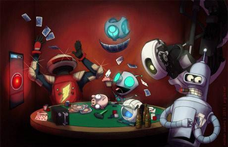 Robot Poker. Tags are Best Korea. north korea