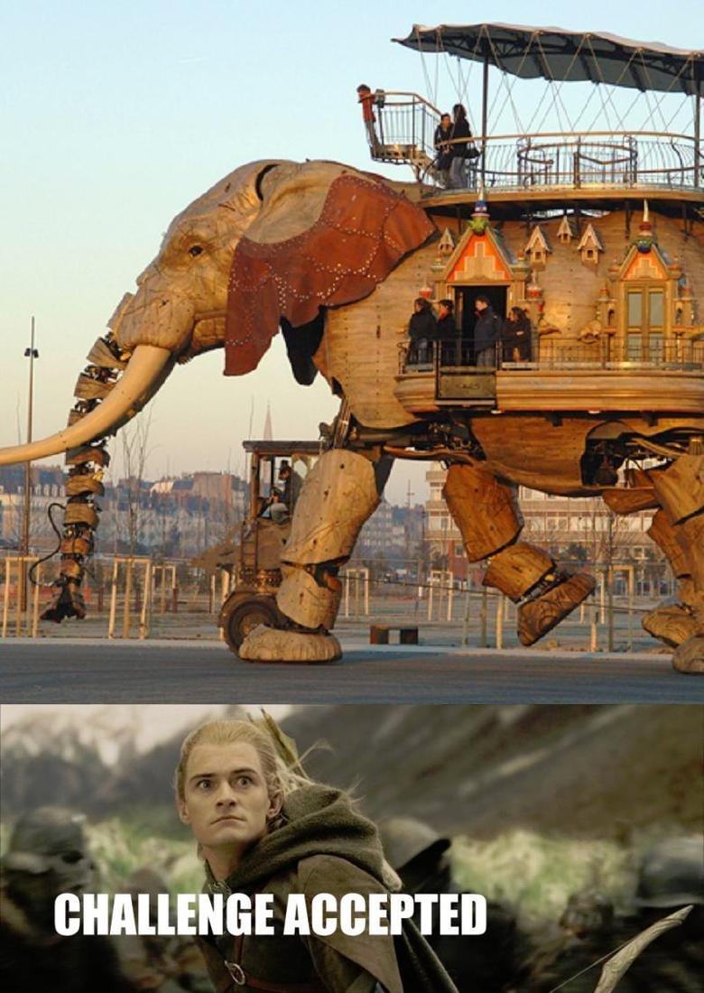Robotic Elephant. .. ha that god dam funny!