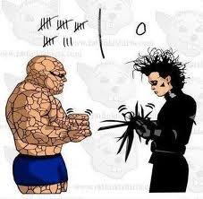 rock beats scissors. .