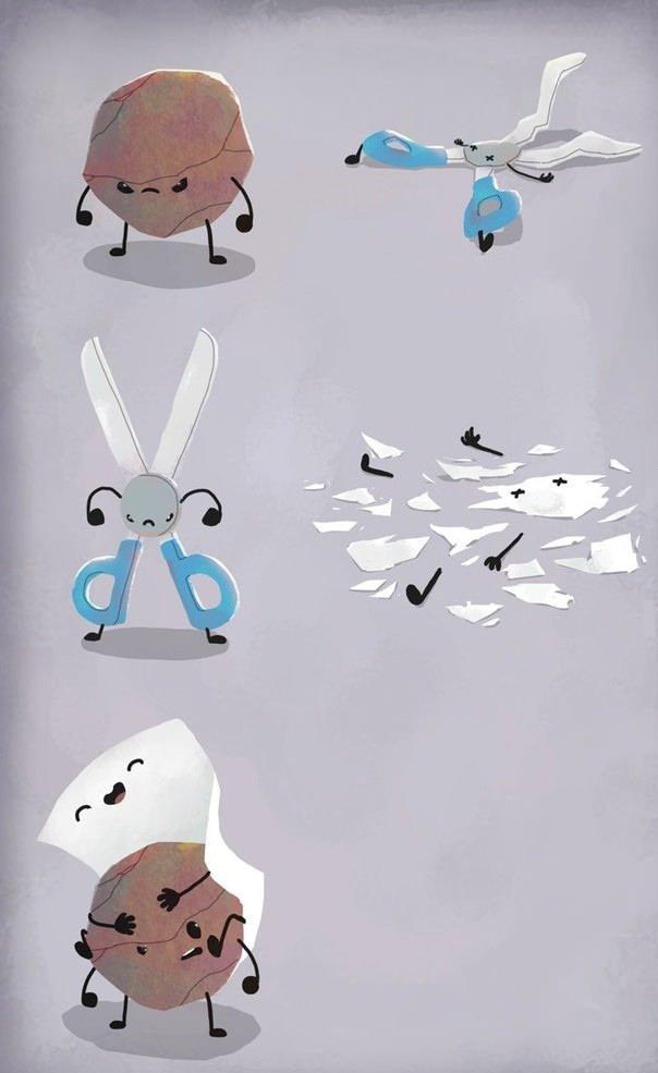 Rock, paper, scissors. .