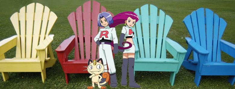Rocket Launchers. rocket lawn chairs.