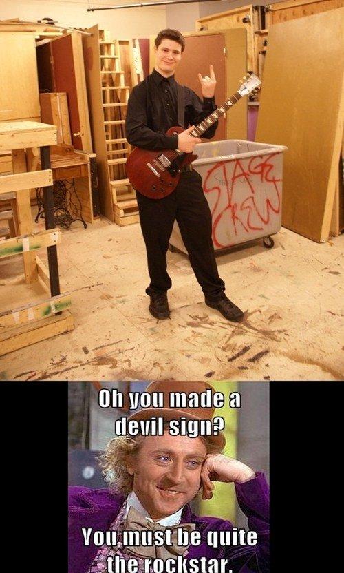 Rockstar. Yup.. devil sign?