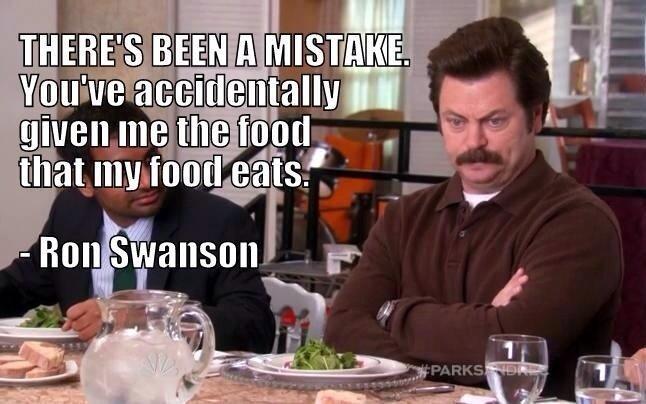Ron Swanson. .