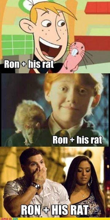 Ron and His Rat. (not OC).. Snooki want smoosh smoosh l