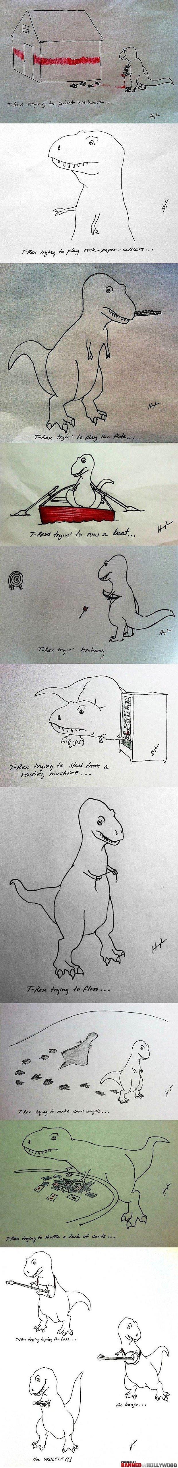 Sad Dinosaur Happy Dinosaur. .. What a heartwarming ending to a tragic tale