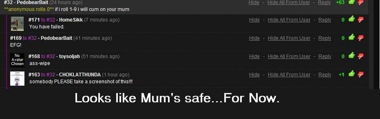 Safe.. Thank goodness.. 32 - Ped 1?' 1 -Homesikk EDGI 158 -toysoljah Crossy-; arsewipe Samarium PLEASE take (3 screenshot ofthis!. l. l. Looks like Mum' s Rafe. mum Cum roll