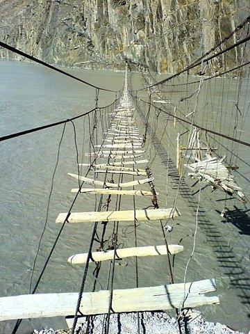 safe bridge. .. I'd cross it. Looks stable enough.