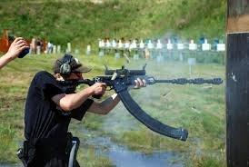 Saiga 12 Race Gun. Needs more muzzle brakes... pew pew pew.....