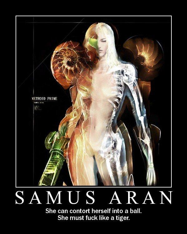 Samas Aran. hi. She can contort herself into a ball. She must like a tiger. SAM samas aran metro