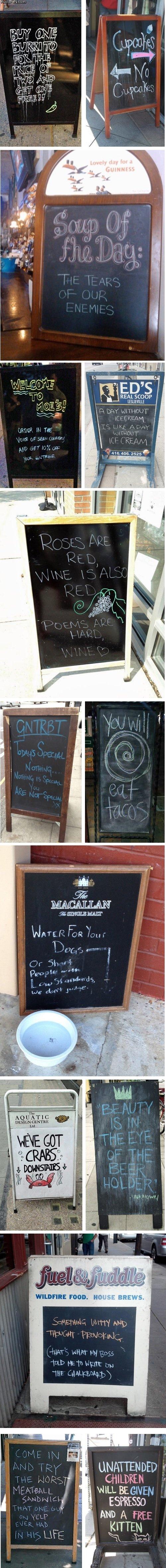 """Sandwich Signs. . CT my Jill is I ssh"""" ll ME K 'ill FOOD. Ill)! NEWS. 1' isutci, CHILDREN yum BEGINER ESPRESSO AND A Ferr KATTEN"""