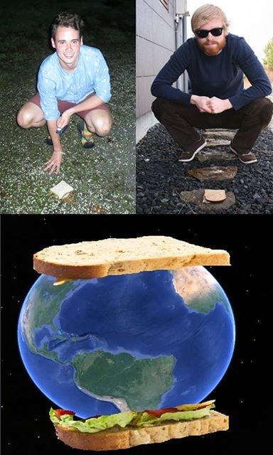 SANDWICH. two brave men create world's largest sandwich.
