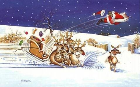 Santa gonna be late this year. .